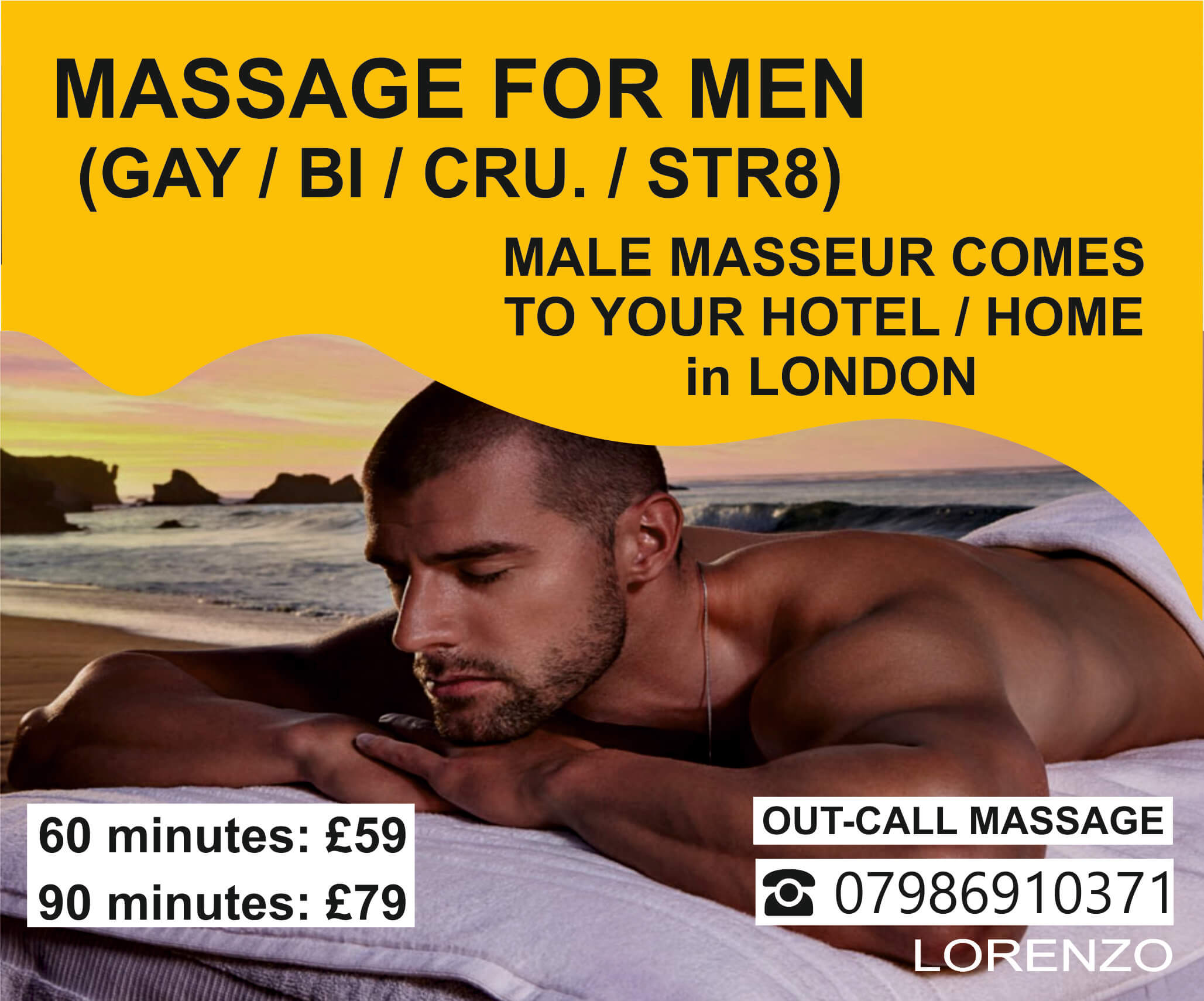 gay male massage london, hotel massage, home massage, lorenzos massage, mobile massage in London