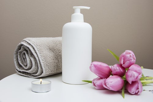 massage towel tulips
