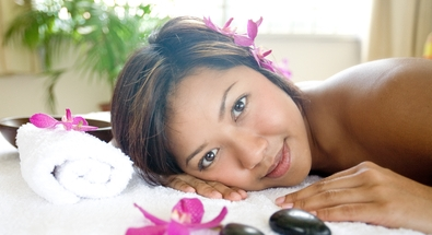 Dreamstime.com - Woman Restful On Massage Therapy Bed Photo
